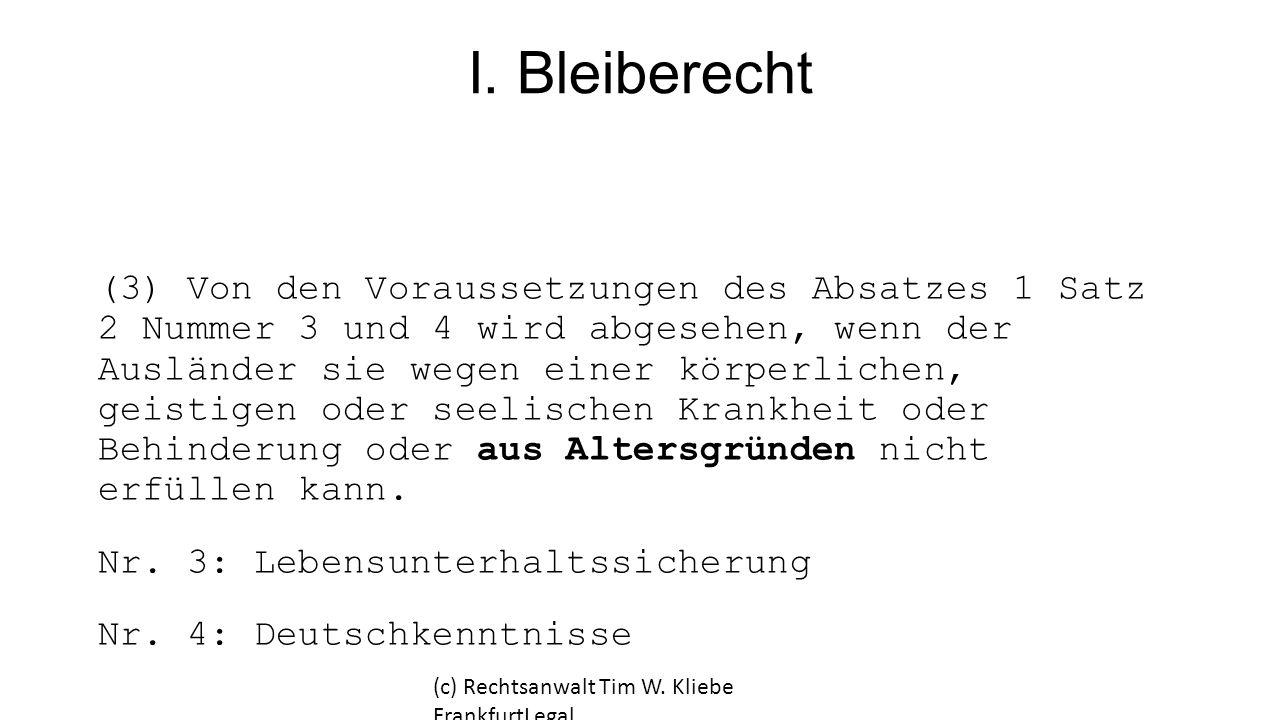 I. Bleiberecht
