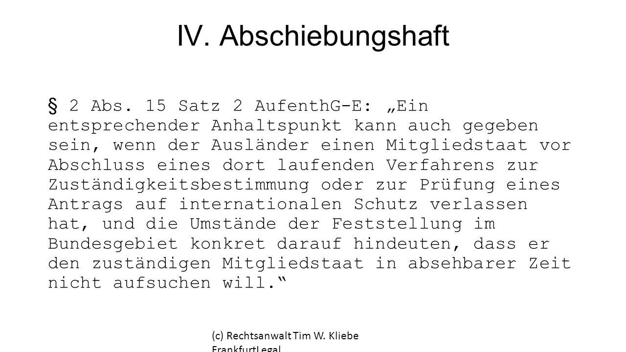 IV. Abschiebungshaft