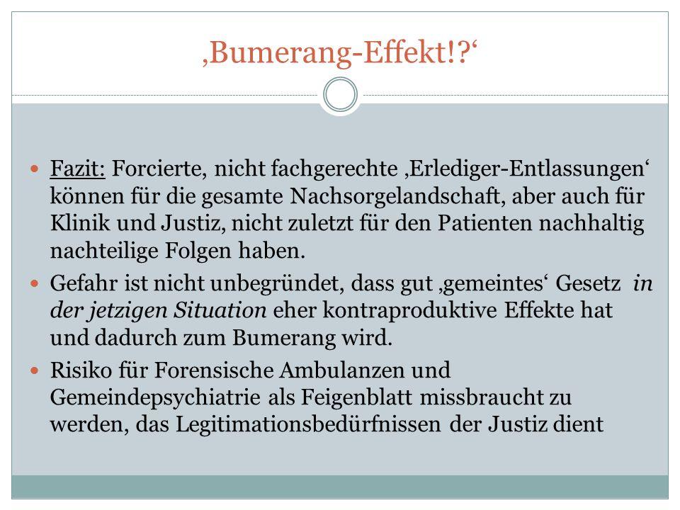 'Bumerang-Effekt! '