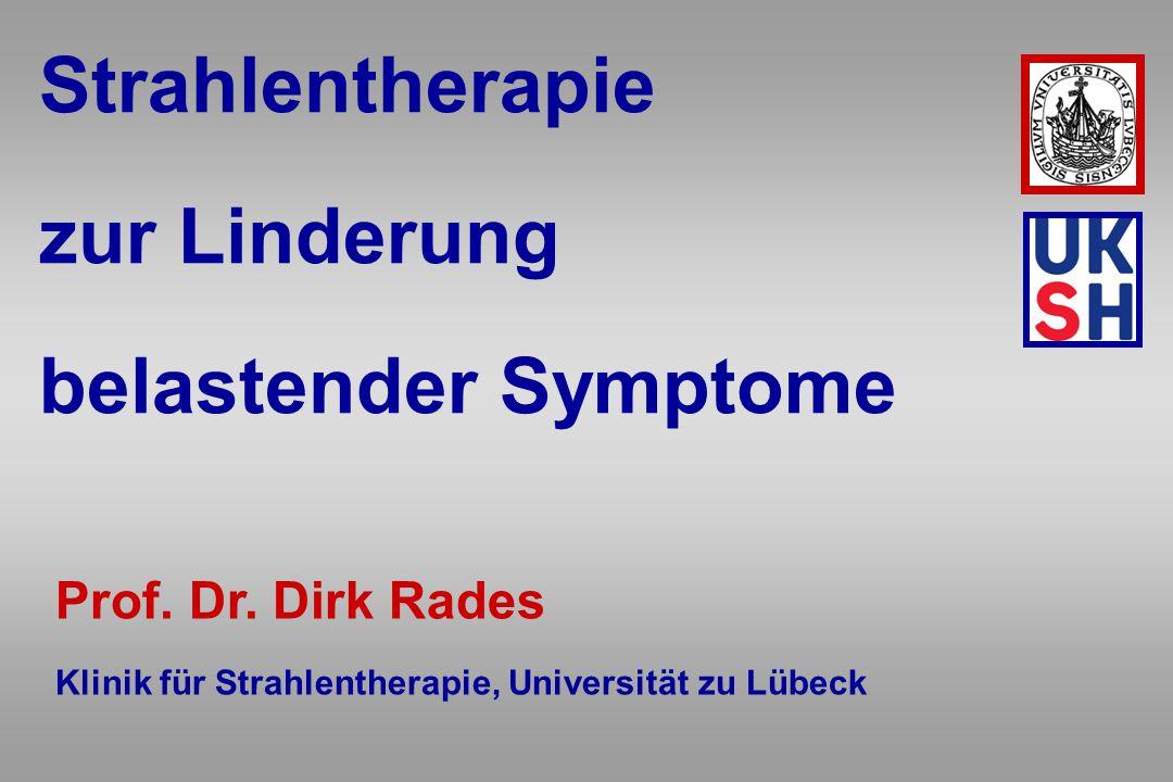 Strahlentherapie zur Linderung belastender Symptome