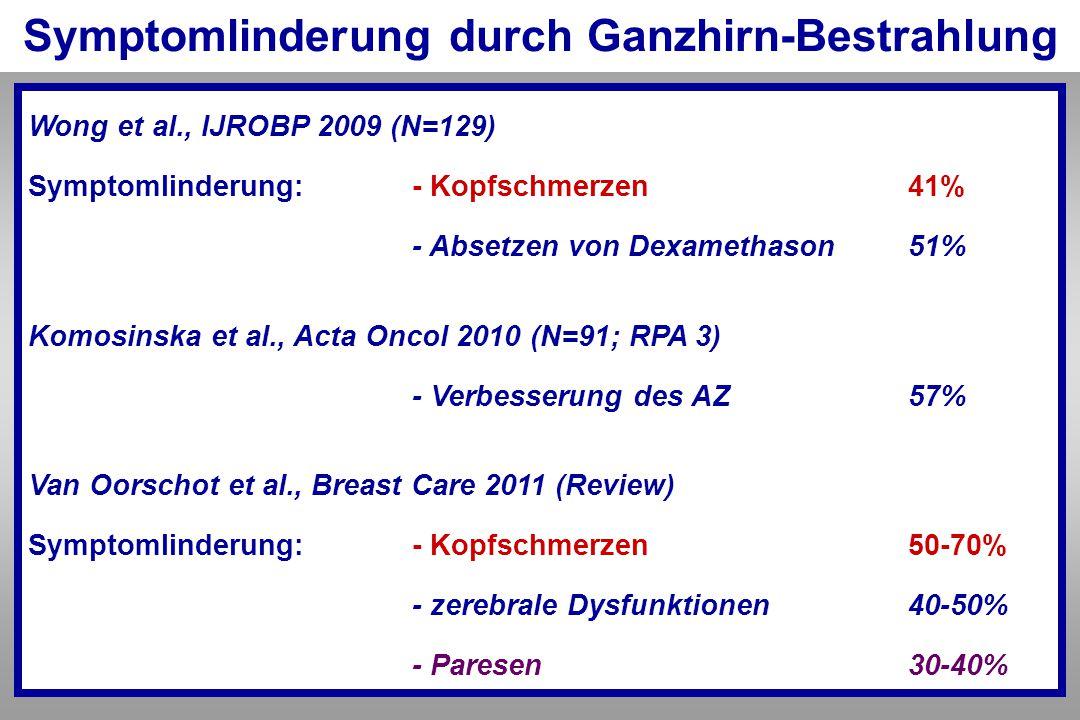 Symptomlinderung durch Ganzhirn-Bestrahlung