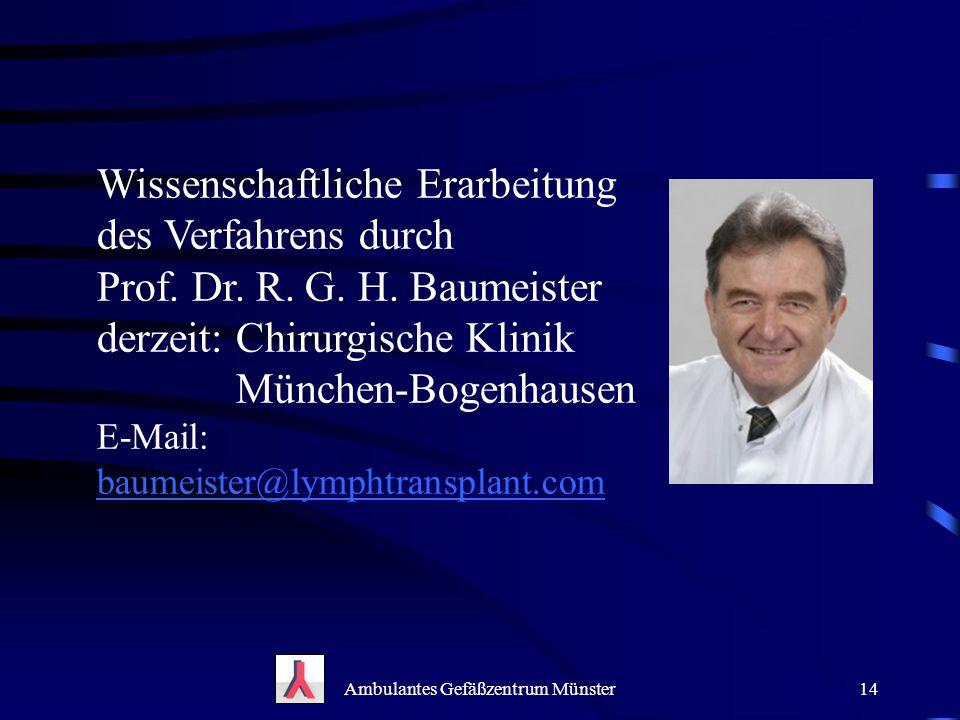 Ambulantes Gefäßzentrum Münster
