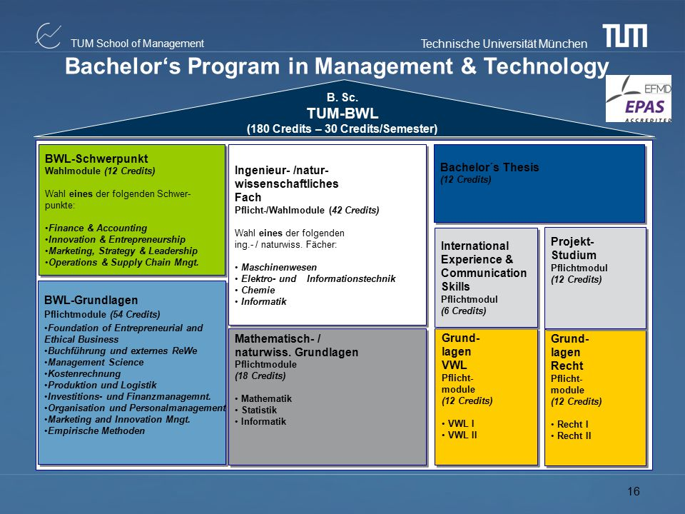 Bachelor's Program in Management & Technology