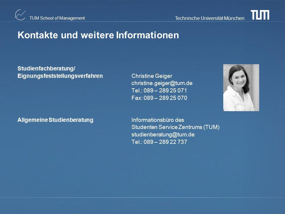 Kontakte und weitere Informationen
