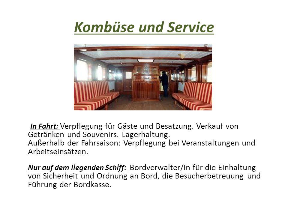 Kombüse und Service