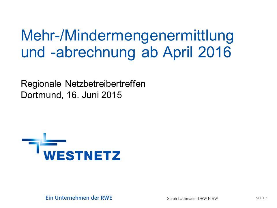 Mehr-/Mindermengenermittlung und -abrechnung ab April 2016