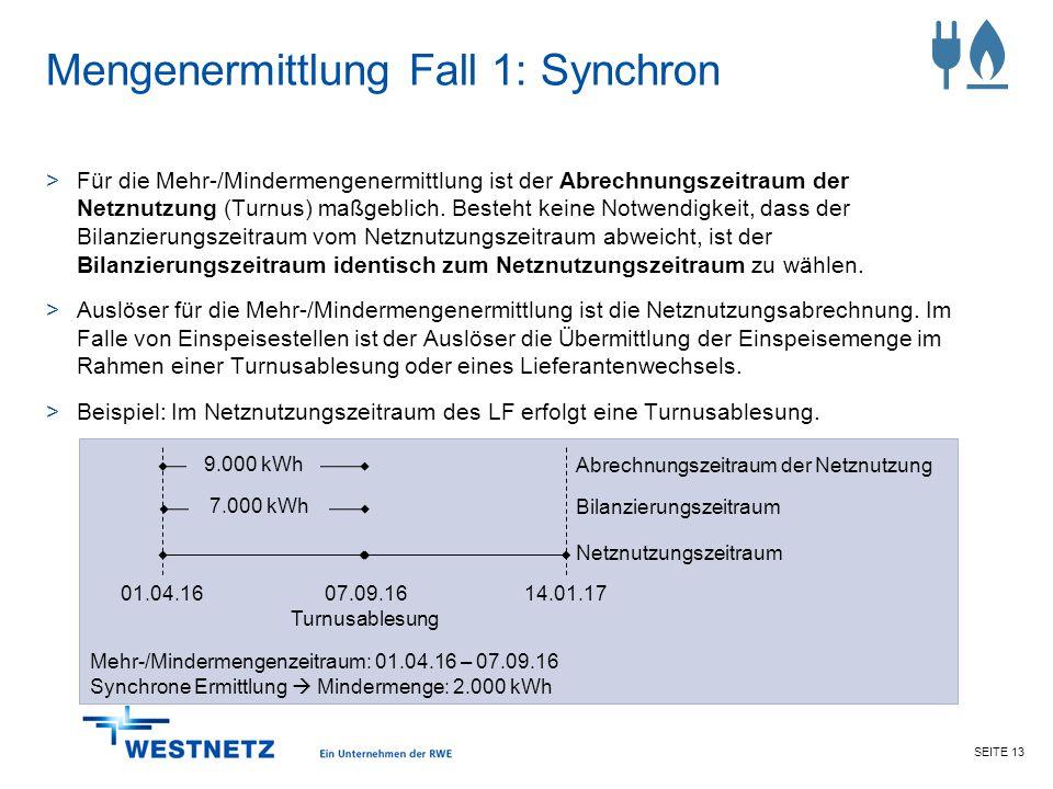 Mengenermittlung Fall 1: Synchron