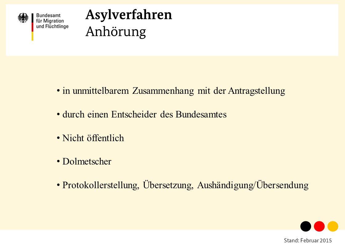 Asylverfahren Anhörung