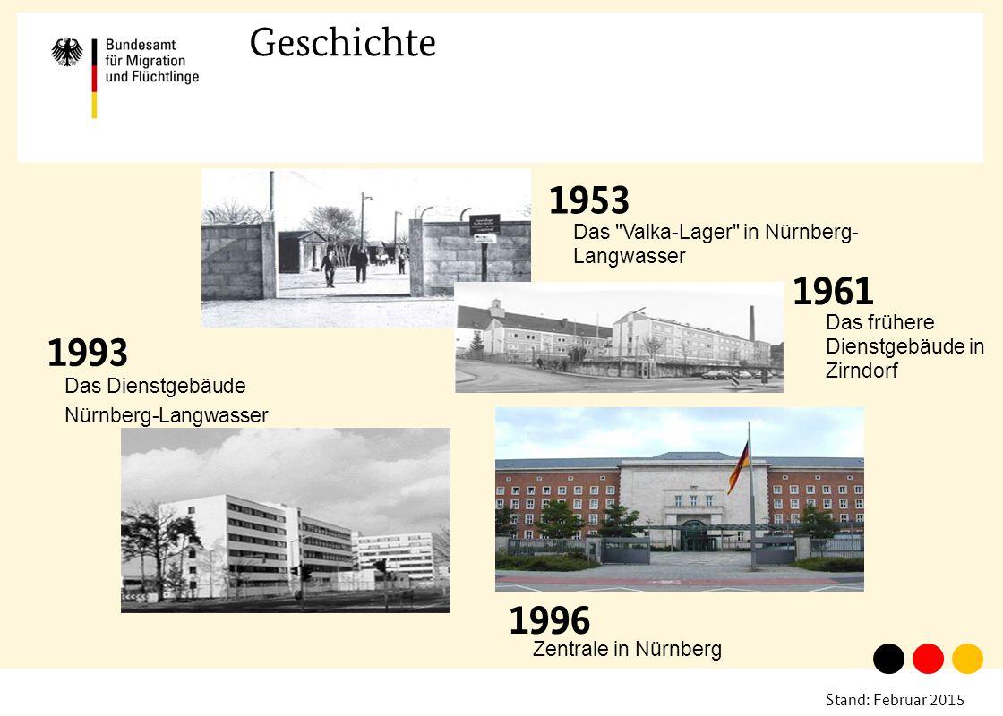 Geschichte 1961. Das Valka-Lager in Nürnberg-Langwasser. Das frühere Dienstgebäude in Zirndorf.