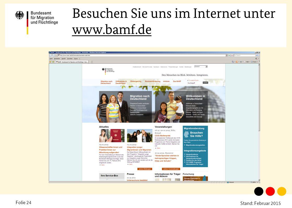 Besuchen Sie uns im Internet unter www.bamf.de