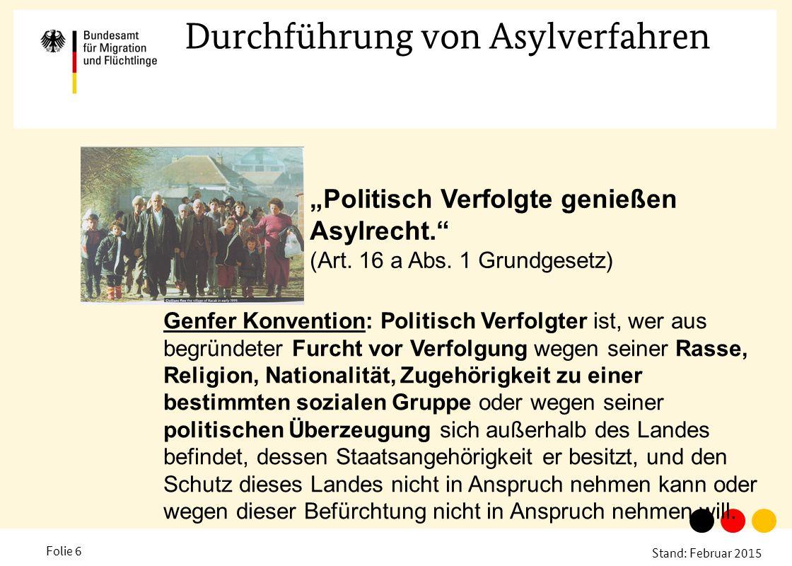 Durchführung von Asylverfahren