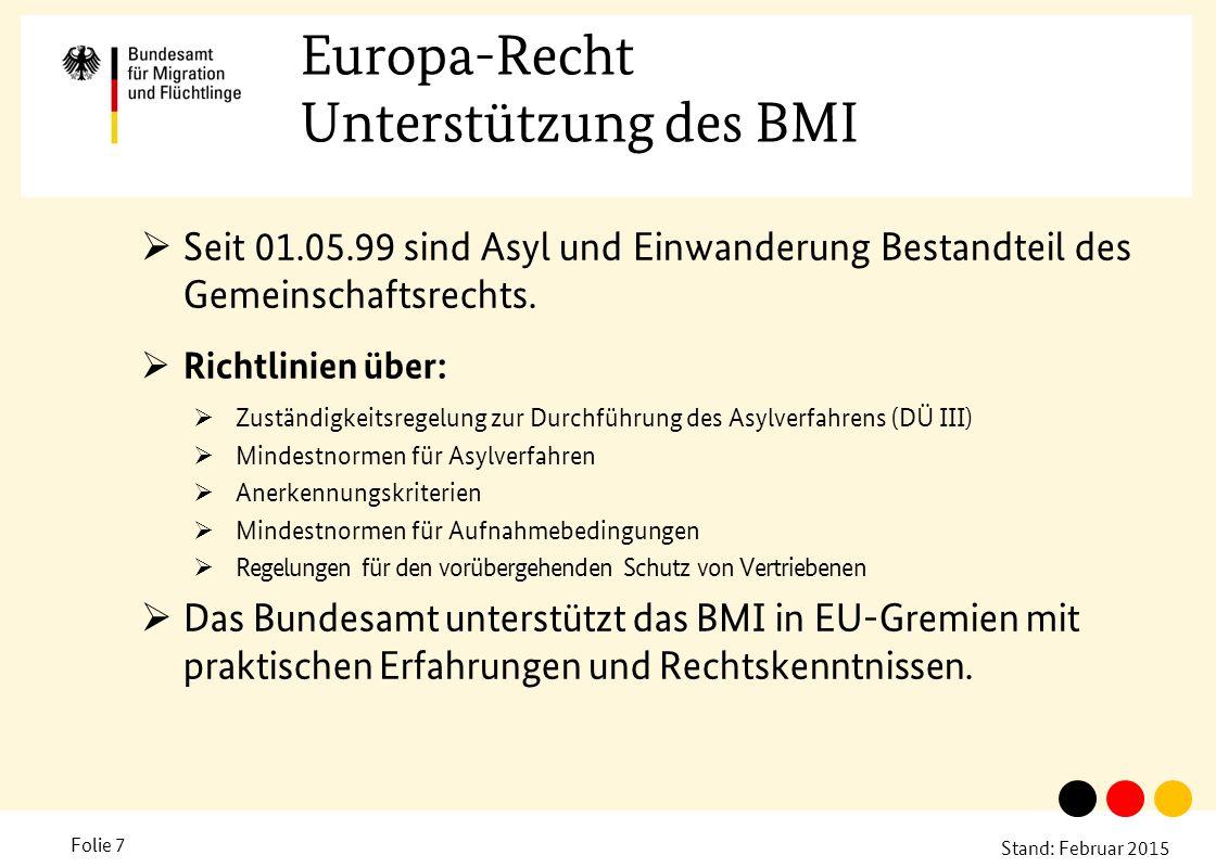 Europa-Recht Unterstützung des BMI