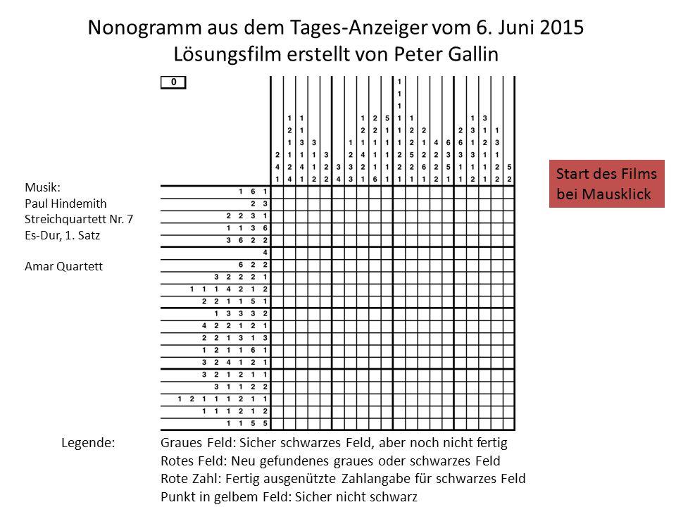 Nonogramm aus dem Tages-Anzeiger vom 6