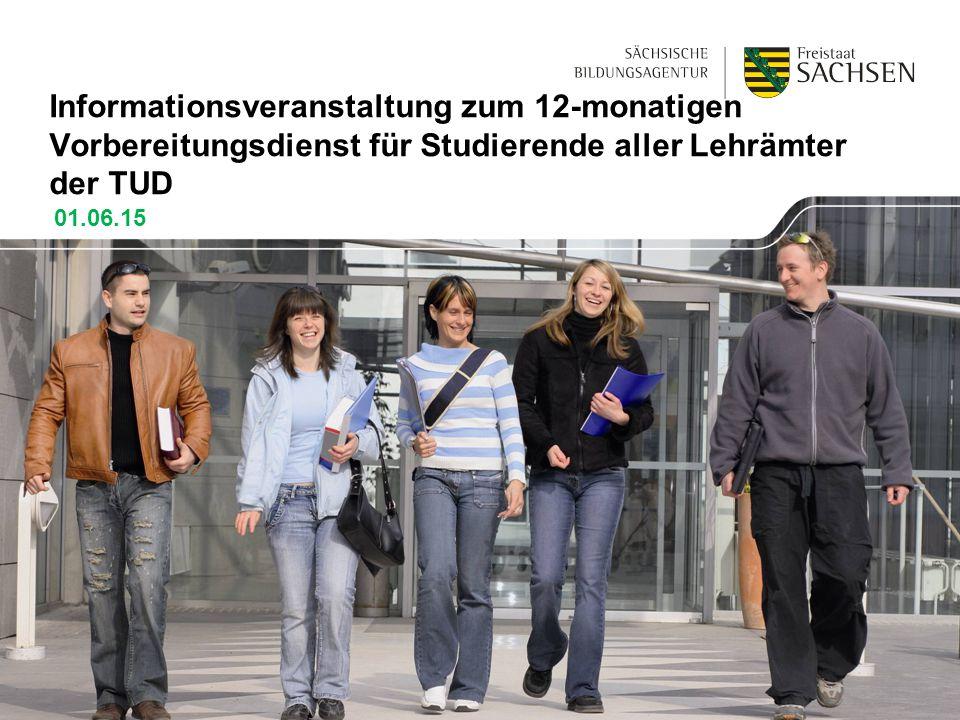 Informationsveranstaltung zum 12-monatigen Vorbereitungsdienst für Studierende aller Lehrämter der TUD