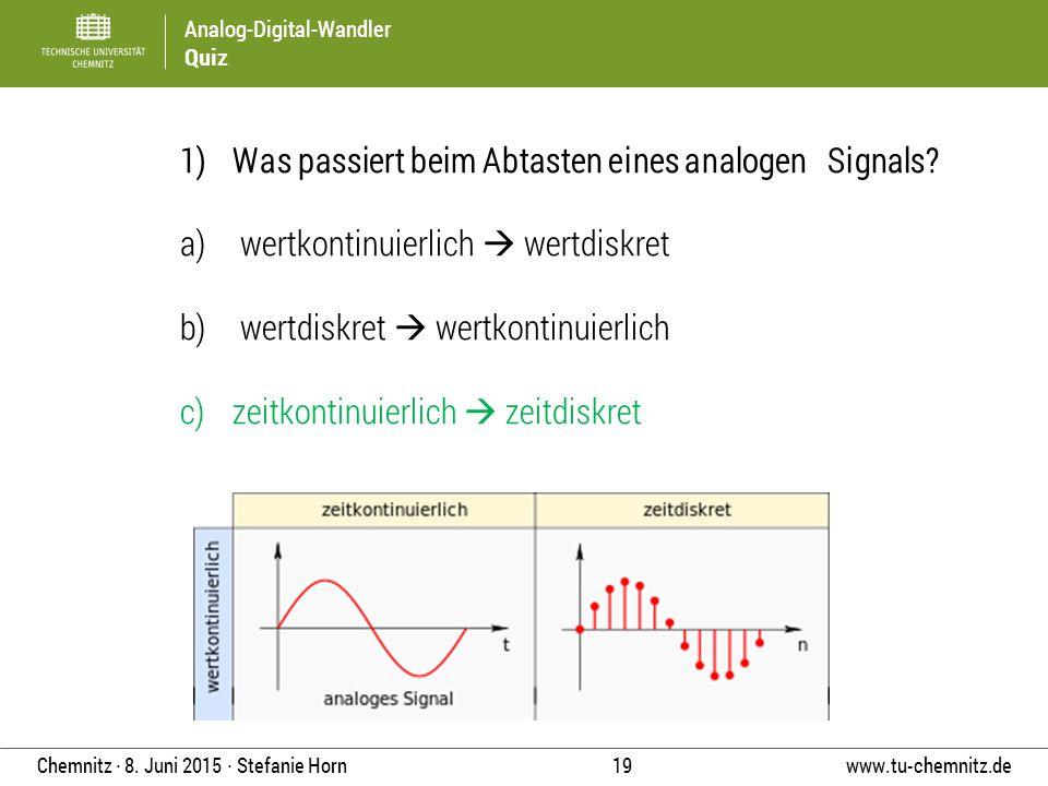 Was passiert beim Abtasten eines analogen Signals