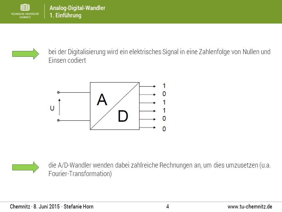 bei der Digitalisierung wird ein elektrisches Signal in eine Zahlenfolge von Nullen und Einsen codiert