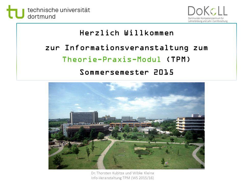 zur Informationsveranstaltung zum Theorie-Praxis-Modul (TPM)