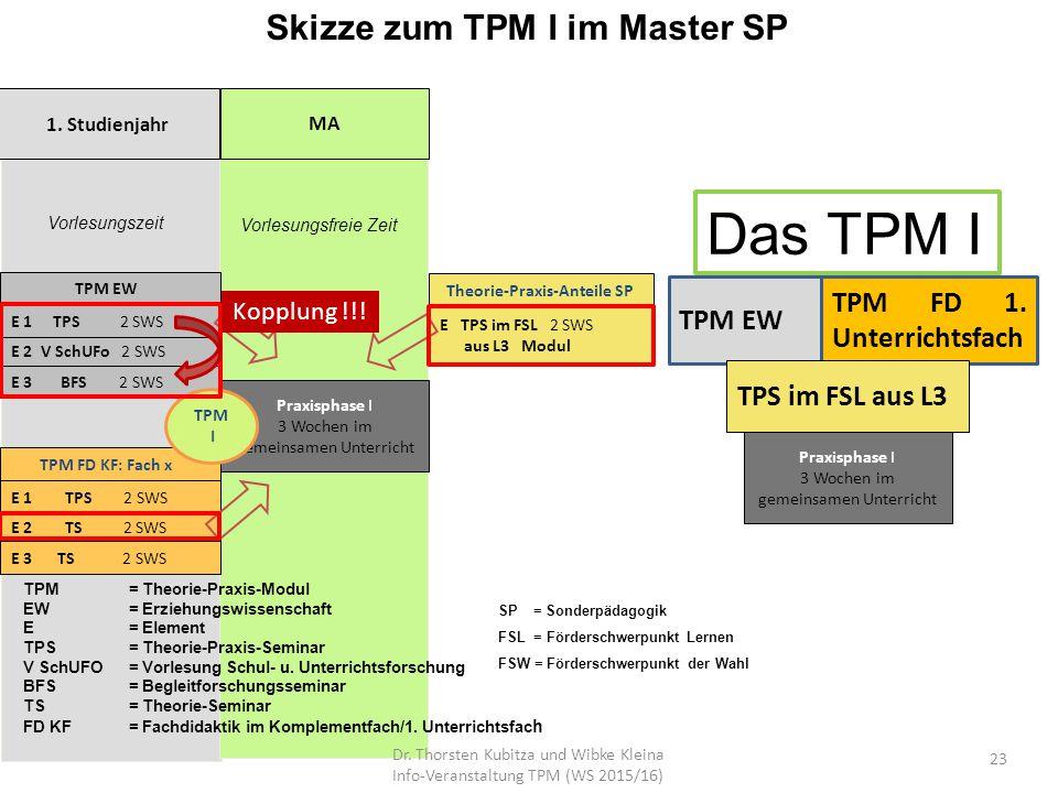 Skizze zum TPM I im Master SP