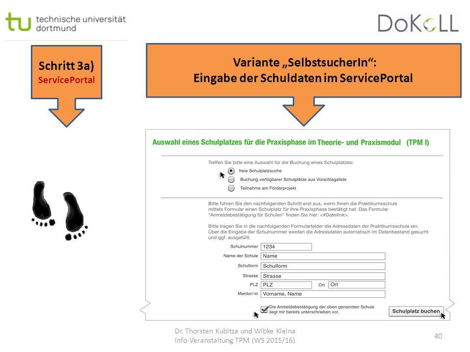 """Variante """"SelbstsucherIn : Eingabe der Schuldaten im ServicePortal"""