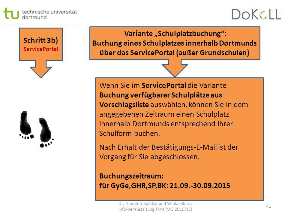 "Variante ""Schulplatzbuchung :"