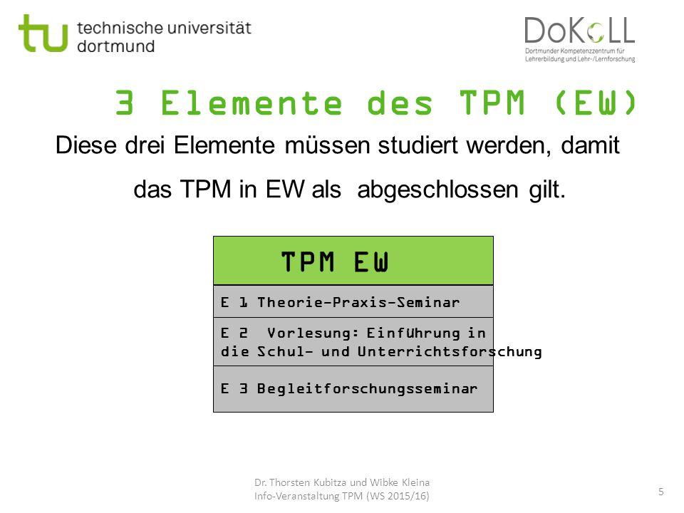 3 Elemente des TPM (EW) TPM EW