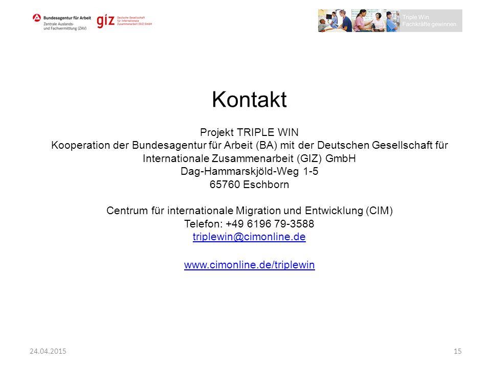 Kontakt Projekt TRIPLE WIN