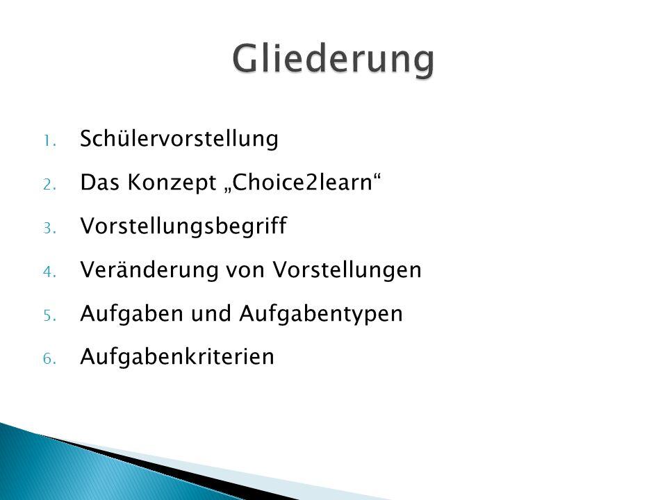 """Gliederung Schülervorstellung Das Konzept """"Choice2learn"""