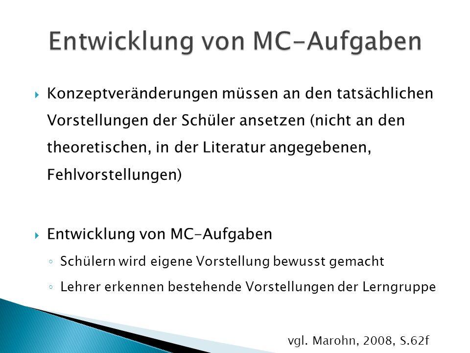 Entwicklung von MC-Aufgaben