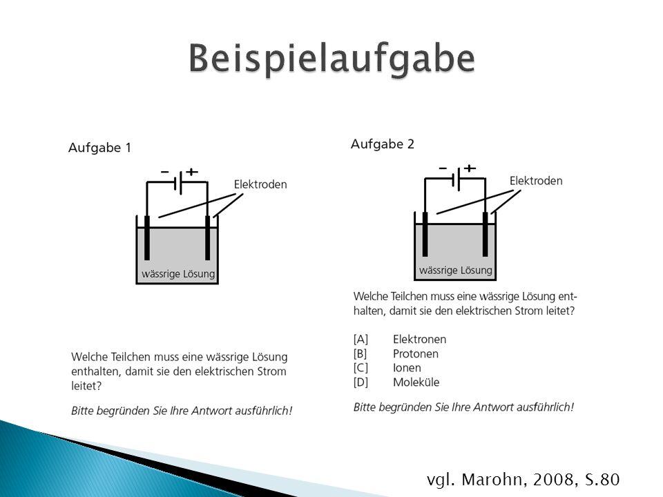 Beispielaufgabe vgl. Marohn, 2008, S.80