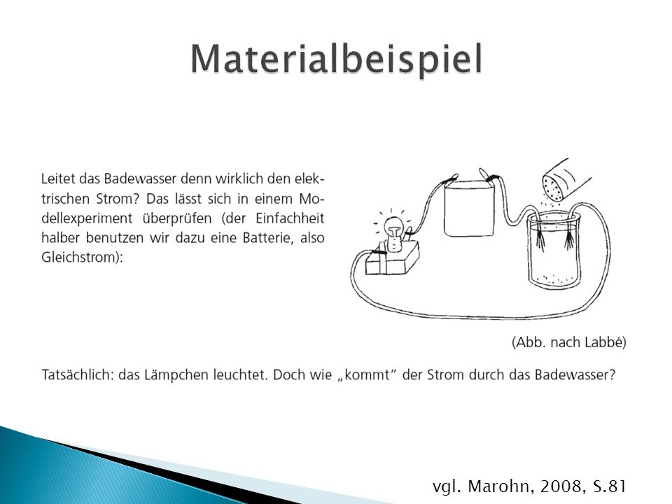 Materialbeispiel vgl. Marohn, 2008, S.81