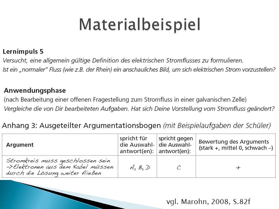 Materialbeispiel vgl. Marohn, 2008, S.82f