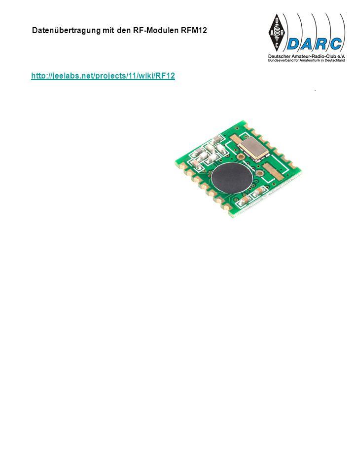 Datenübertragung mit den RF-Modulen RFM12