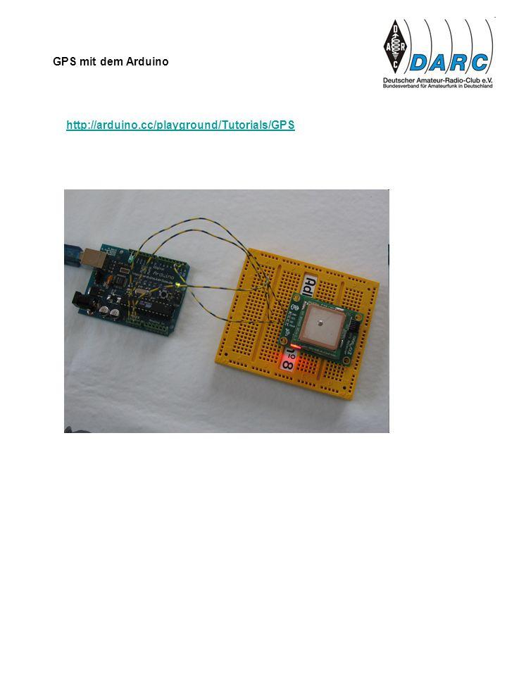 GPS mit dem Arduino http://arduino.cc/playground/Tutorials/GPS