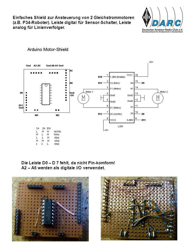 Einfaches Shield zur Ansteuerung von 2 Gleichstrommotoren