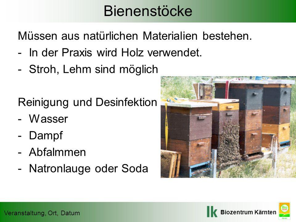 Bienenstöcke Müssen aus natürlichen Materialien bestehen.
