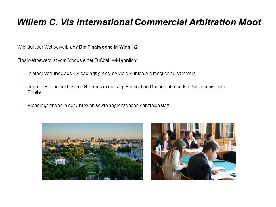 Willem C. Vis International Commercial Arbitration Moot