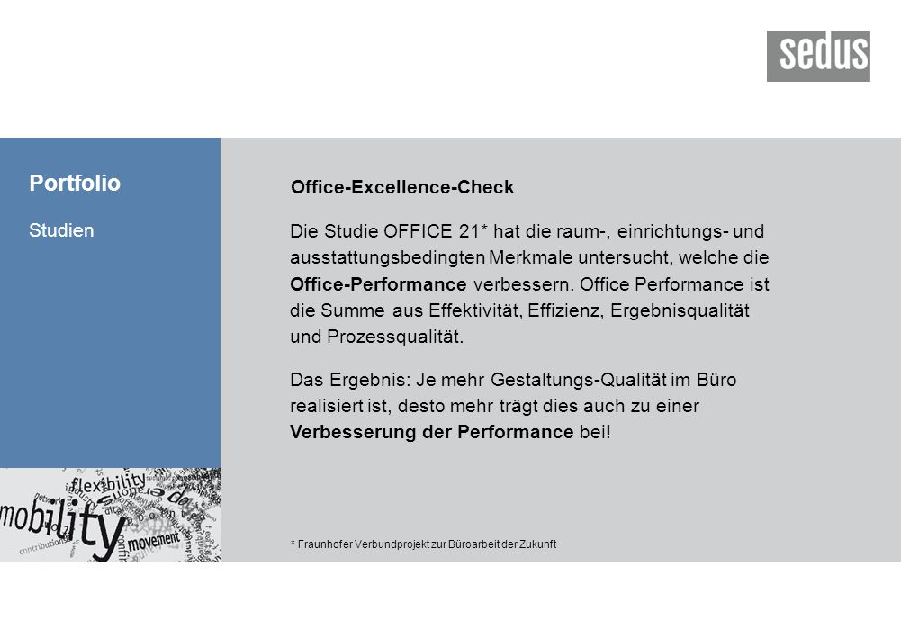 Portfolio Office-Excellence-Check Studien