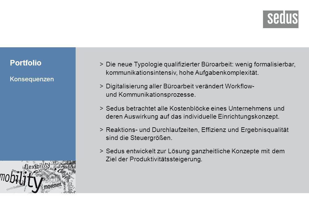 Portfolio > Die neue Typologie qualifizierter Büroarbeit: wenig formalisierbar, kommunikationsintensiv, hohe Aufgabenkomplexität.