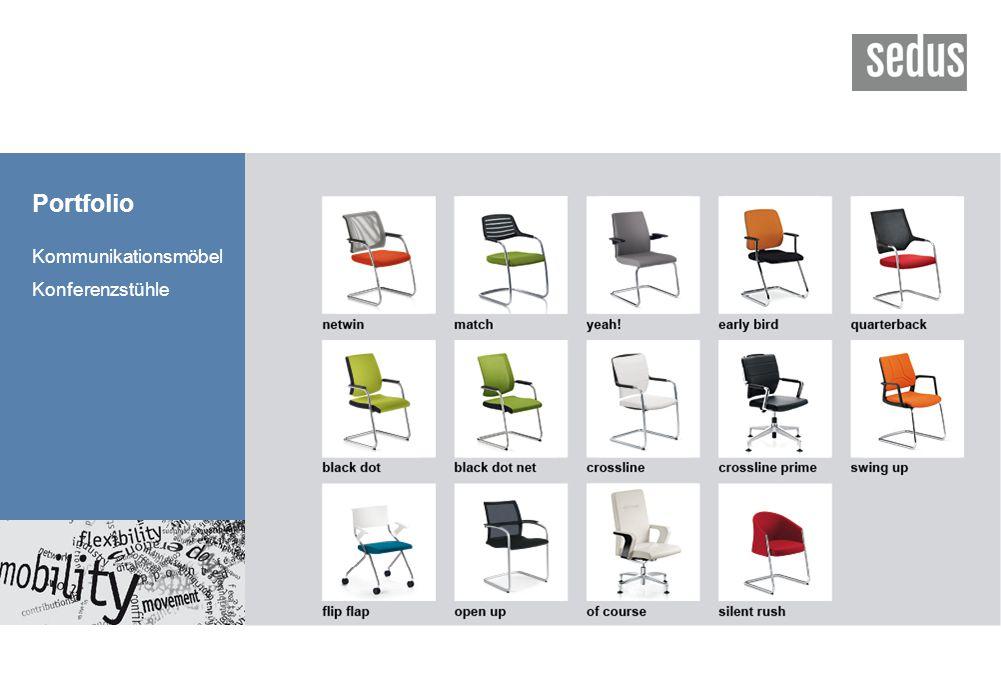 Portfolio Kommunikationsmöbel Konferenzstühle