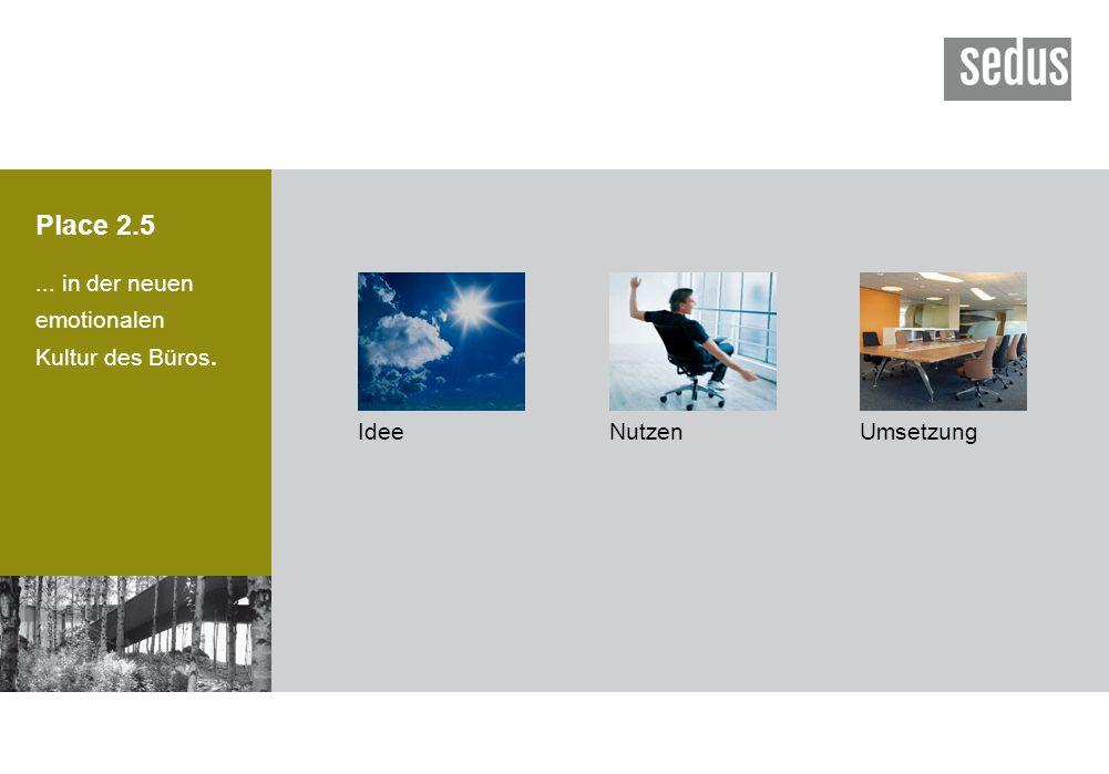 Place 2.5 ... in der neuen emotionalen Kultur des Büros. Idee Nutzen