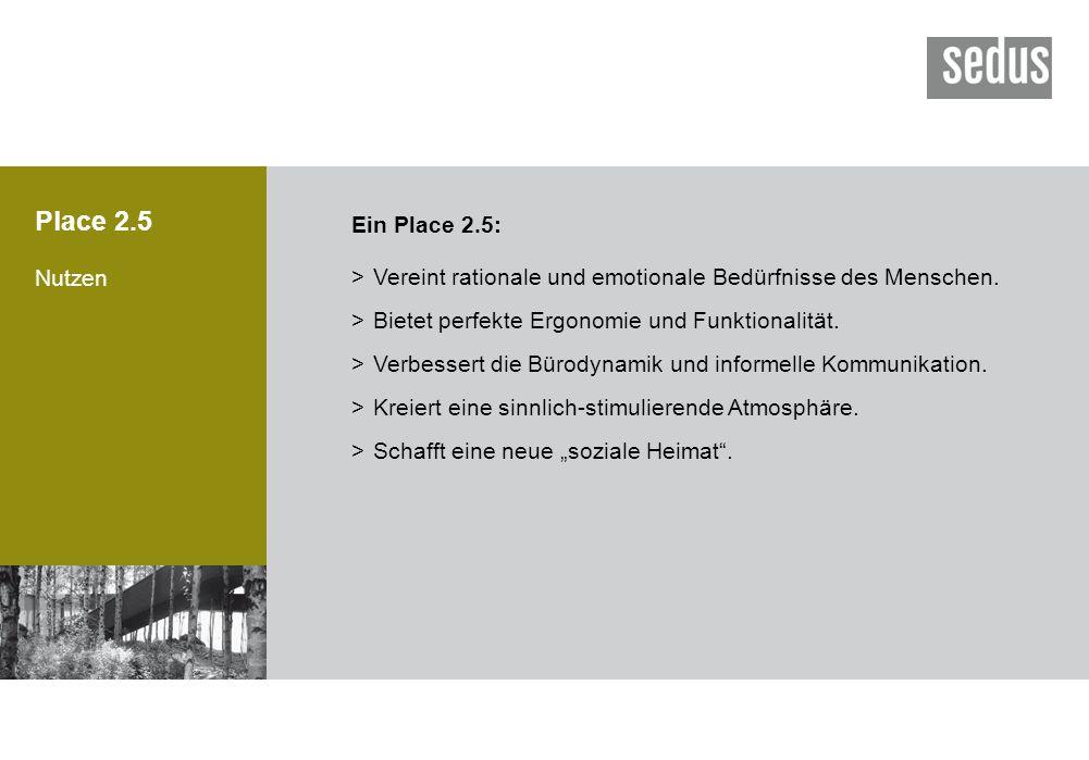 Place 2.5 Ein Place 2.5: Nutzen.