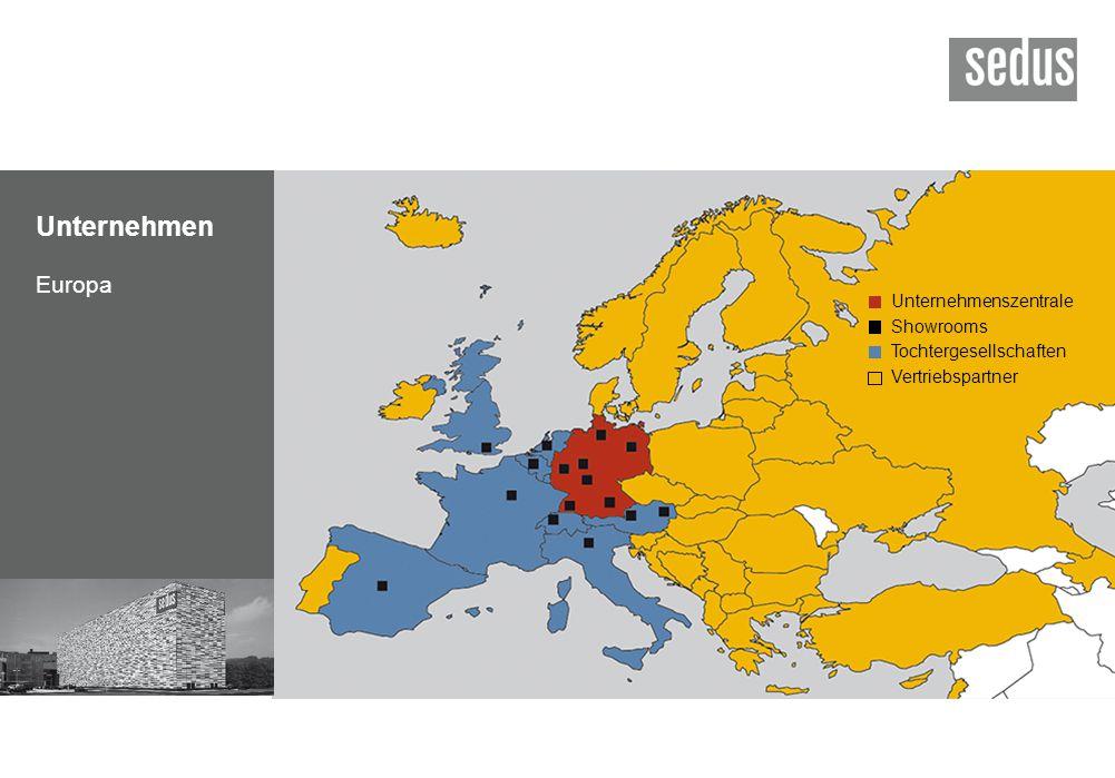 Unternehmen Europa Unternehmenszentrale Showrooms