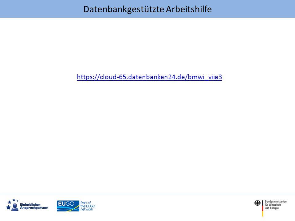 Datenbankgestützte Arbeitshilfe