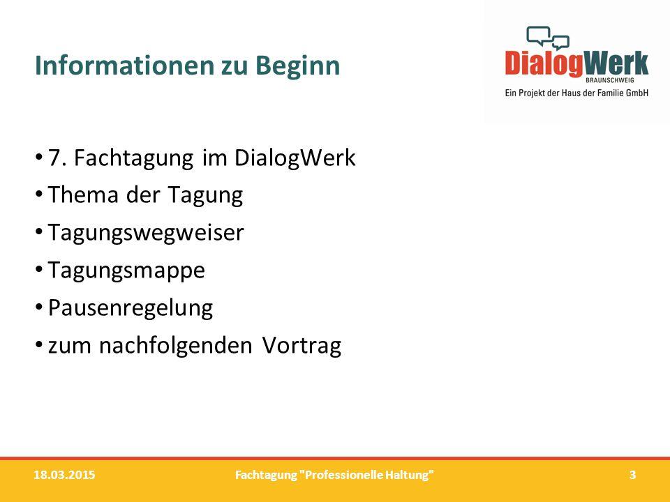 Informationen zu Beginn
