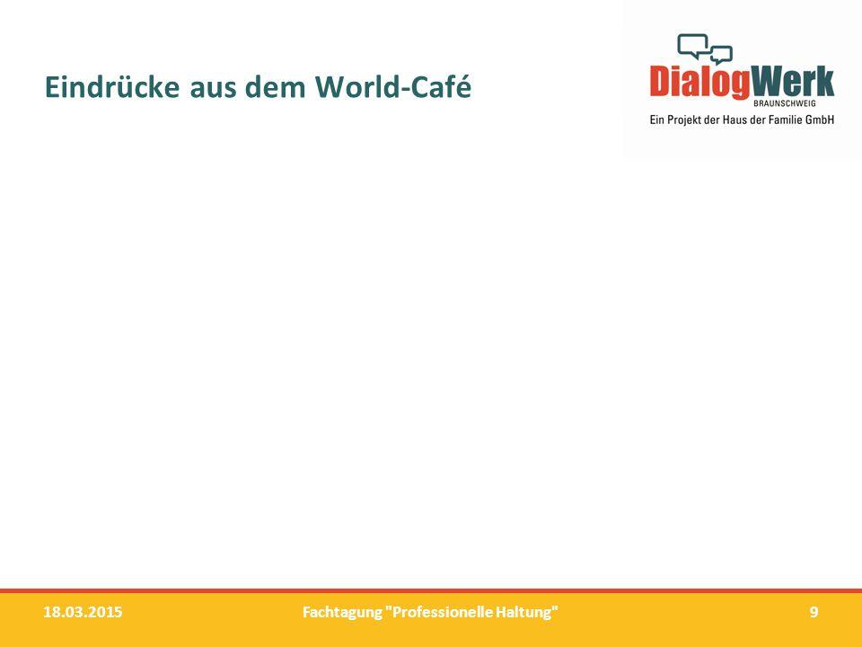Eindrücke aus dem World-Café