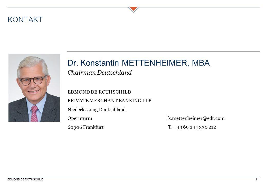 Dr. Konstantin METTENHEIMER, MBA