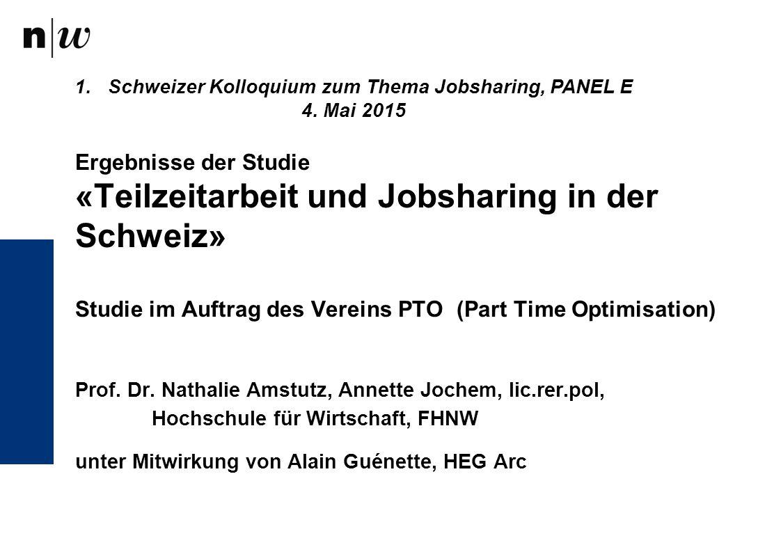 Schweizer Kolloquium zum Thema Jobsharing, PANEL E