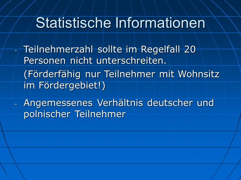 Statistische Informationen