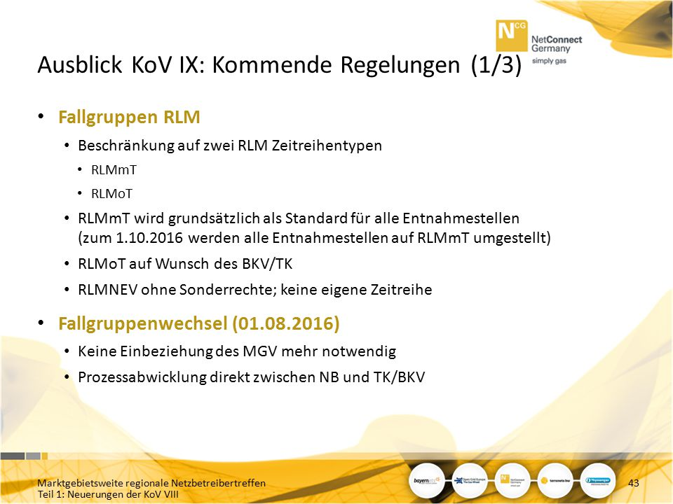 Ausblick KoV IX: Kommende Regelungen (1/3)