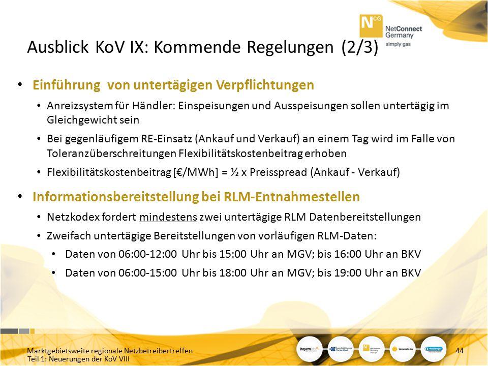 Ausblick KoV IX: Kommende Regelungen (2/3)